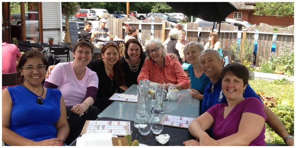 Women in business at Moni's Birthday lunch (and me)