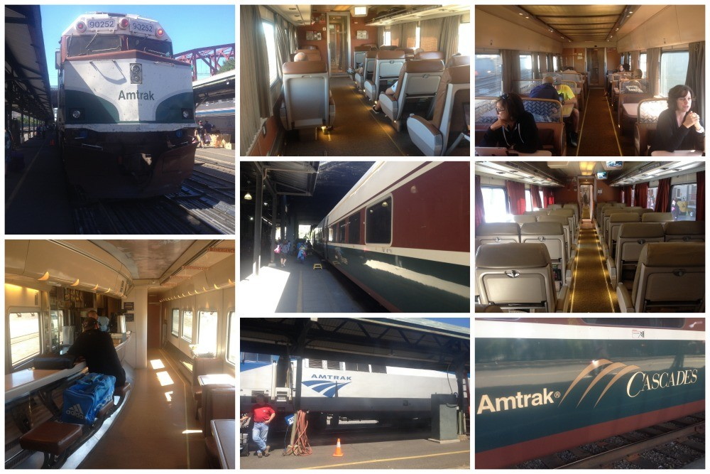 Amtrak Cascades Train From Vancouver Canada To Portland