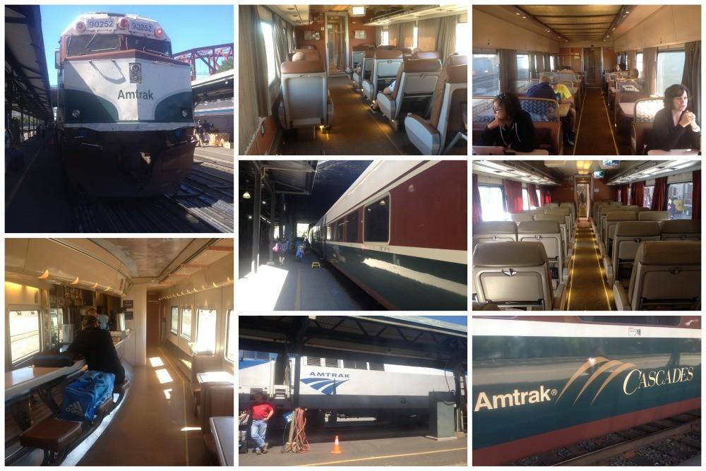 Amtrak Cascades train to Portland
