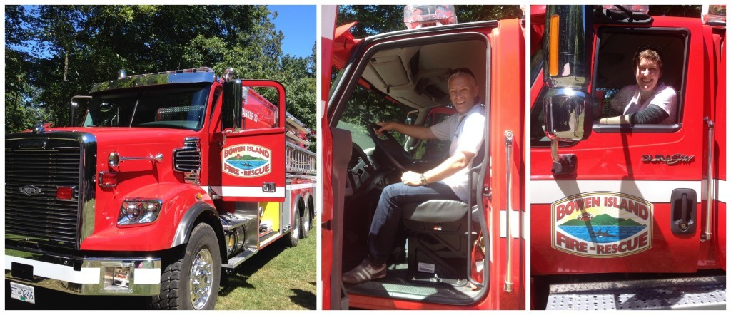Bowen Island Fire Service, you're never too old to be a kid, right!!