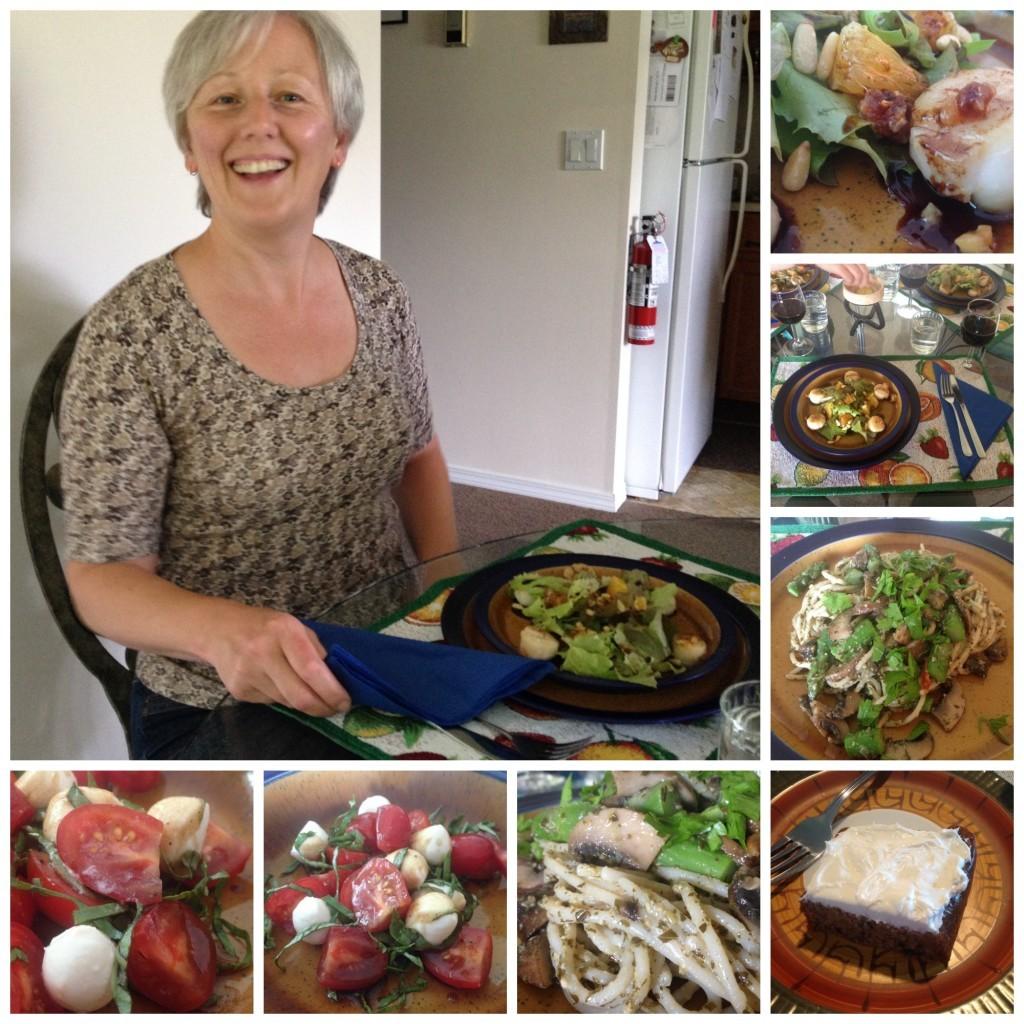 Dinner at Davina's Collage