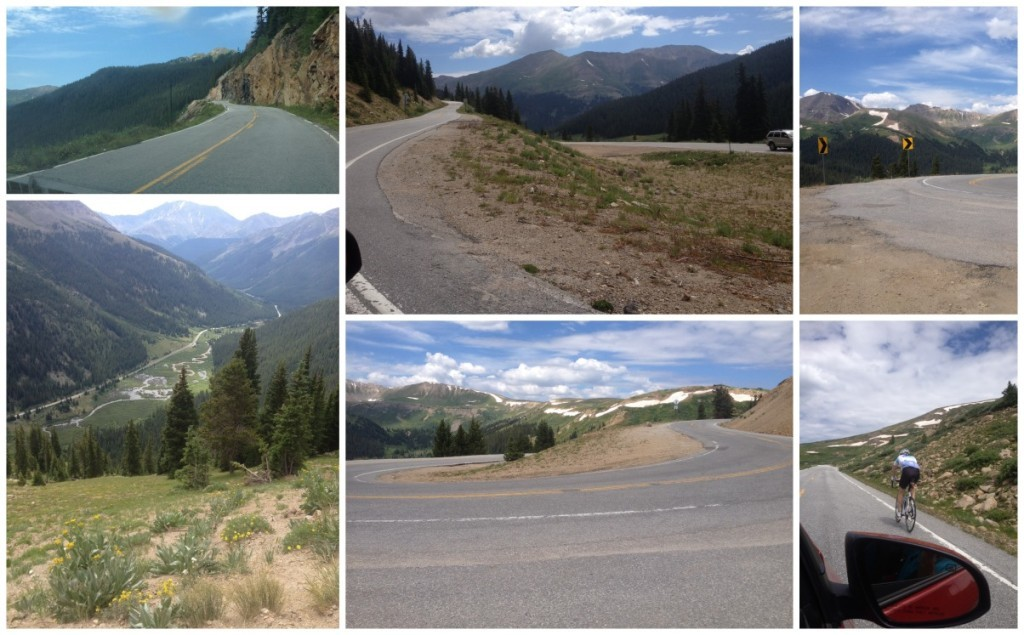 Driving up the I82 to the top of the Independance Pass