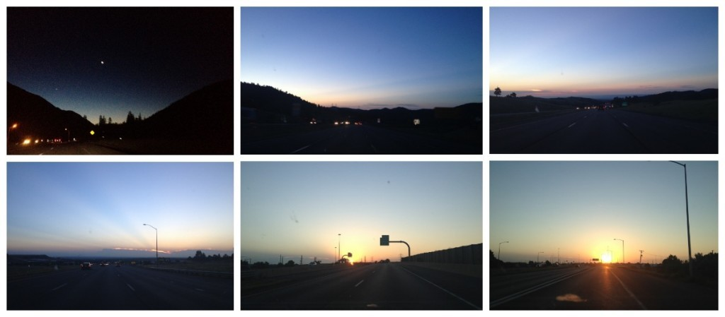 Early morning drive to Fort Collins