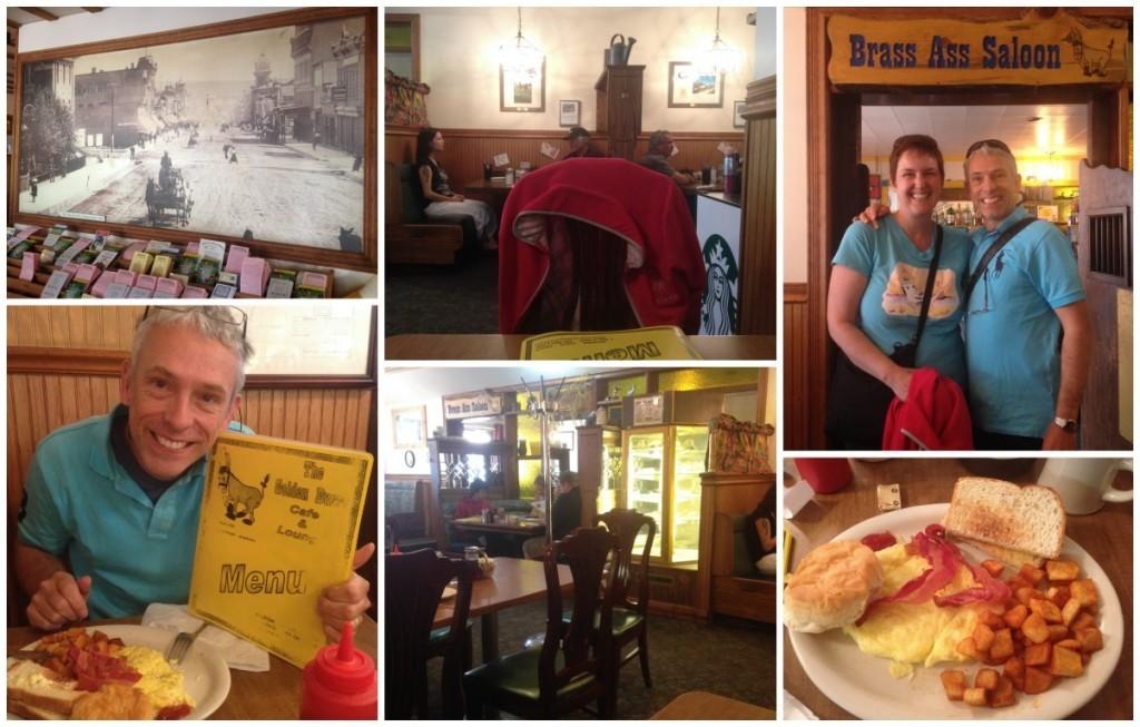 Enjoying breakfast at the Golden Burro in Leadville