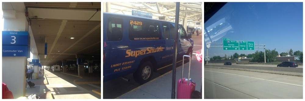Getting the Super Shuttle to Denver West
