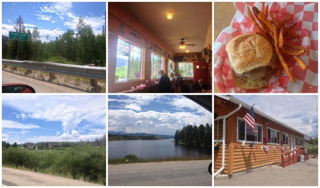We stopped at Grand Lake for lunch