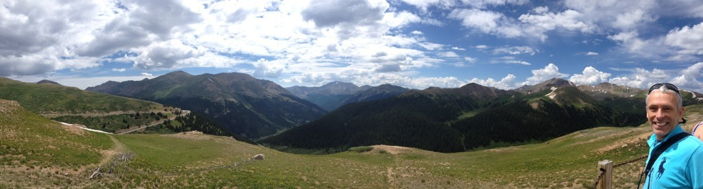 Panorama of the mountains from the top of the Independance Pass
