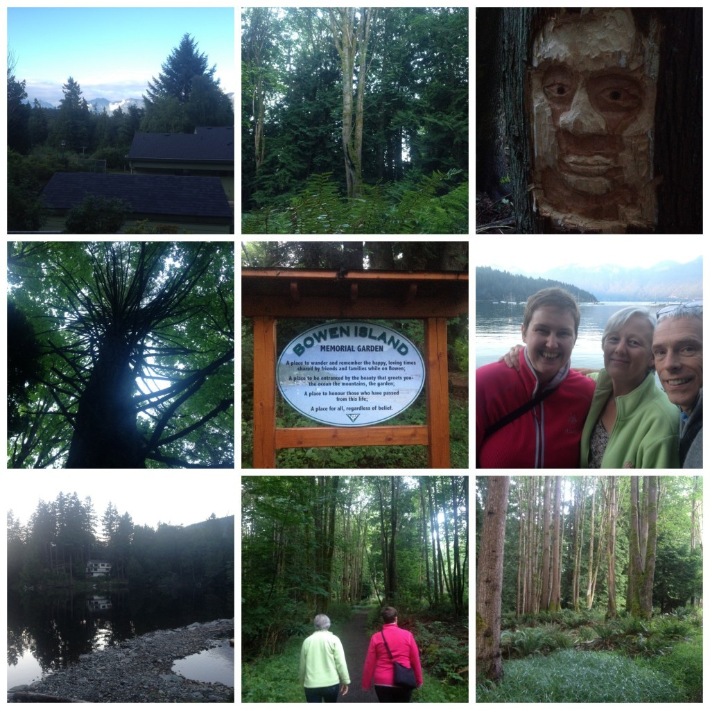 Images from our walk through the forest down to the lake and back