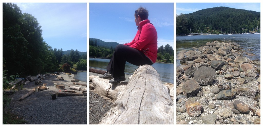 Images from the beach at Snug Cove on Bowen Island