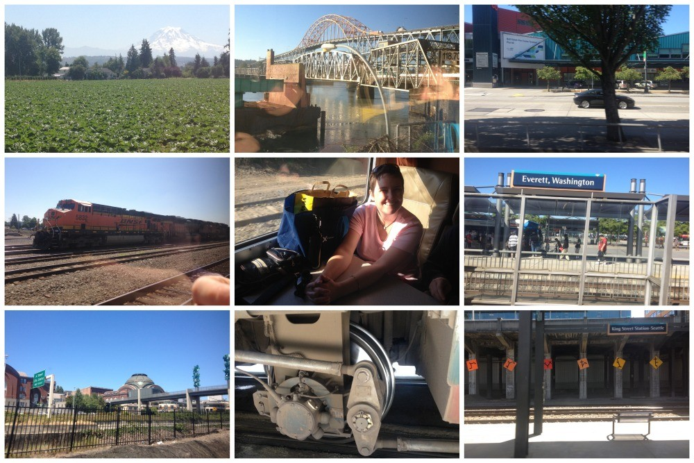 Images from the train journey