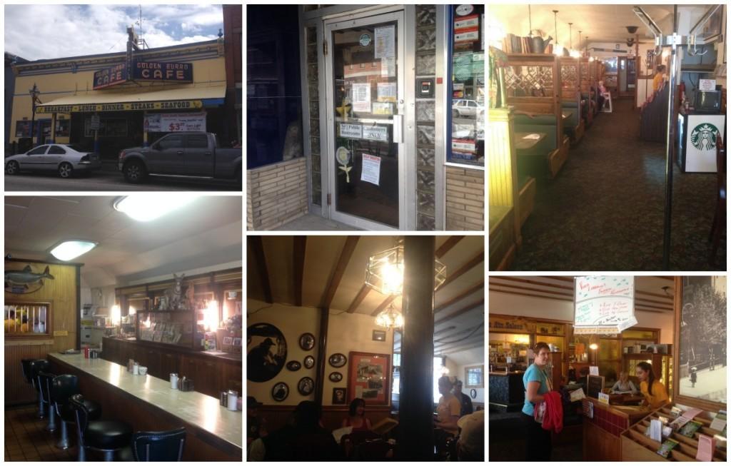 Inside the Golden Burro Cafe in Leadville