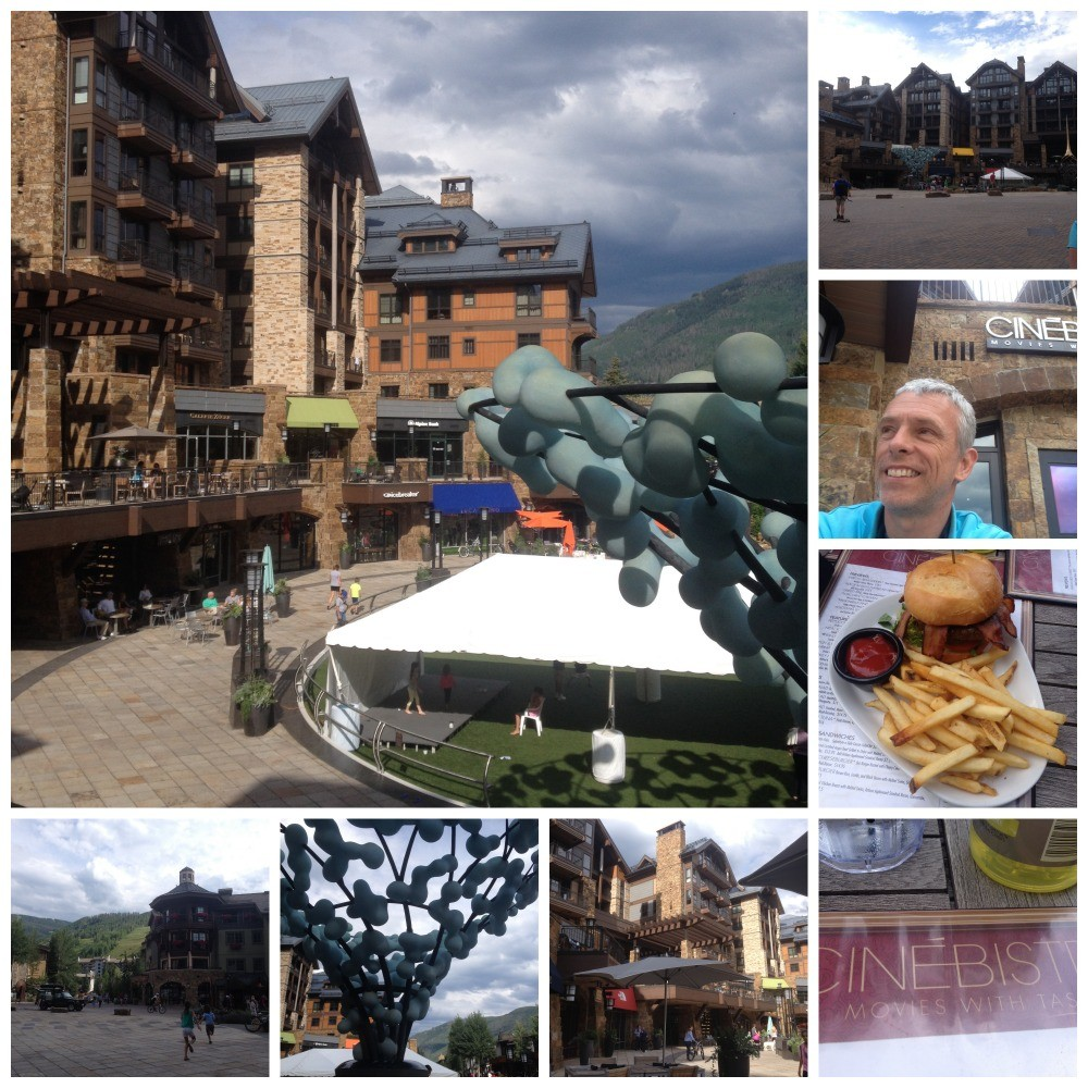 Solaris Plaza in Vail with late lunch at Cinebistro
