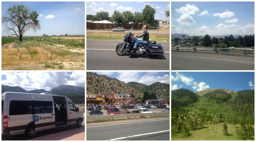 Some images from the shuttle drive to Summit County
