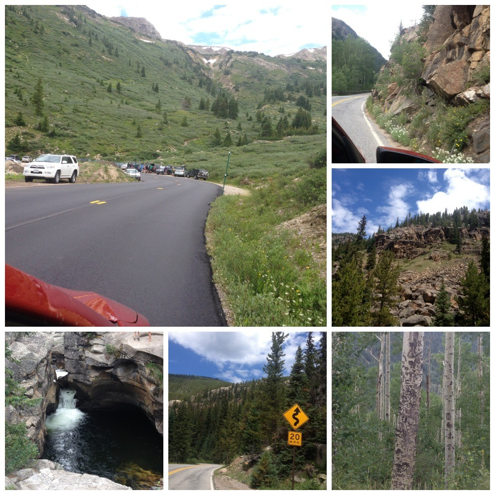 The drive down the Independance Pass to Aspen