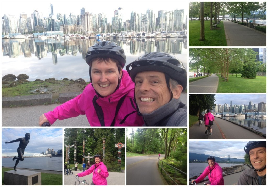 Bike ride around Stanley Park in Vancouver