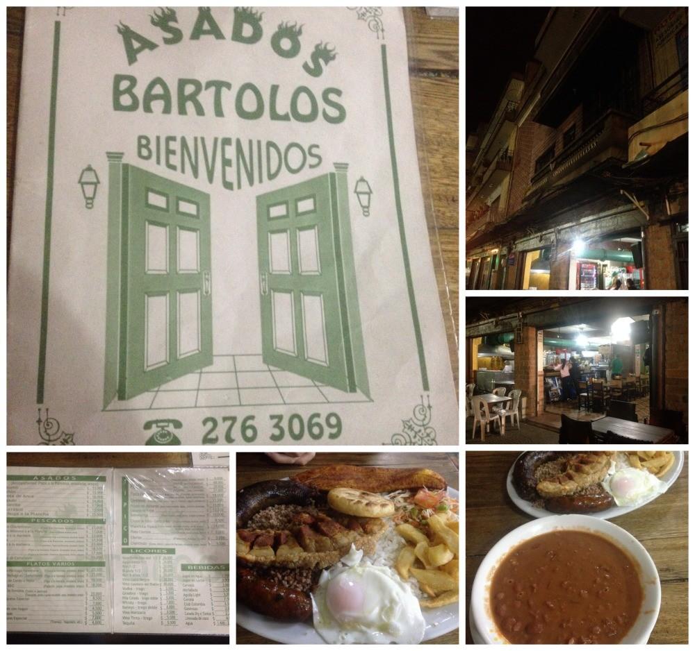 Colombian dinner at Asados