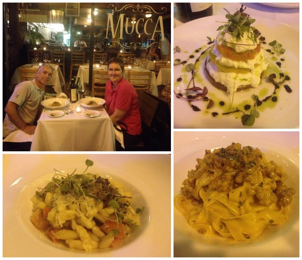Dinner at Mucca Italian restaurant in Portland