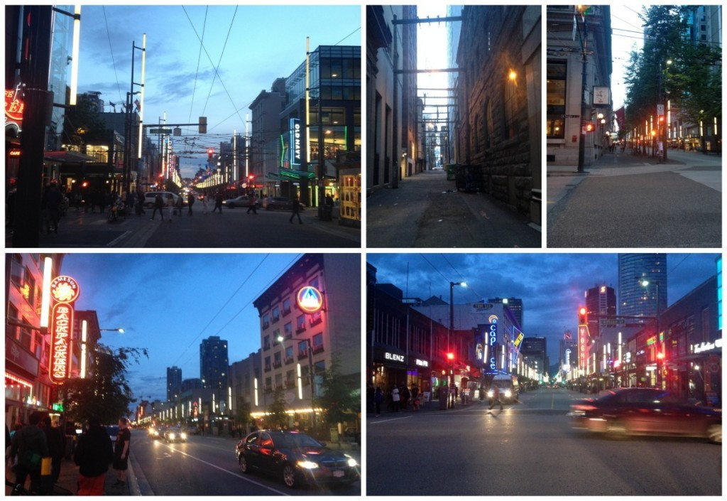Downtown Vancouver early evening