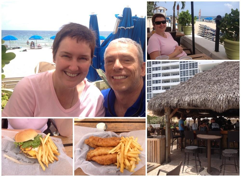 Lunch at Bamboo Beach Tiki Bar & Cafe