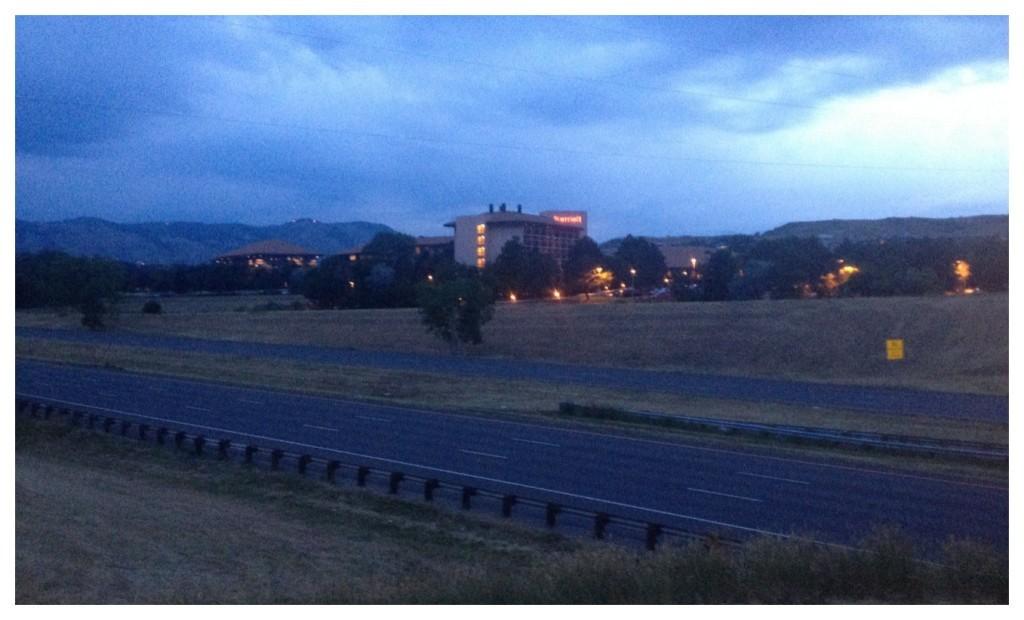 Marriott Denver West at sunset