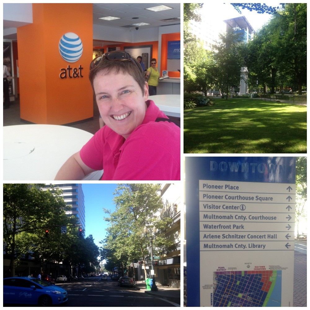 Moni getting her sim card for her phone from At&t