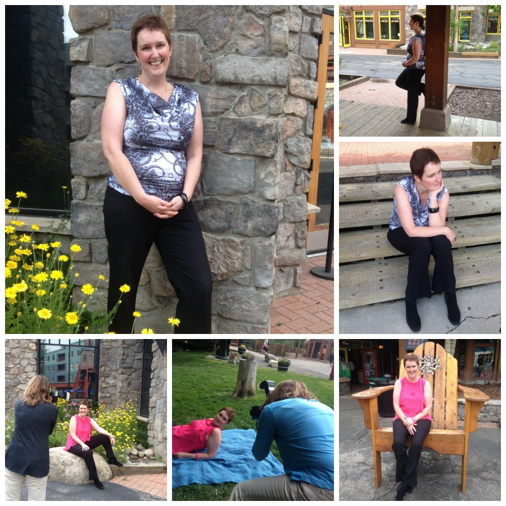 Moni on photo shoot location in Keystone