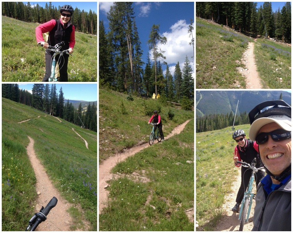 Mountain bike trail down Copper Mountain