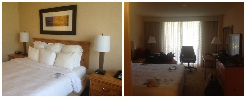 Our hotel room at the Marriott Denver West