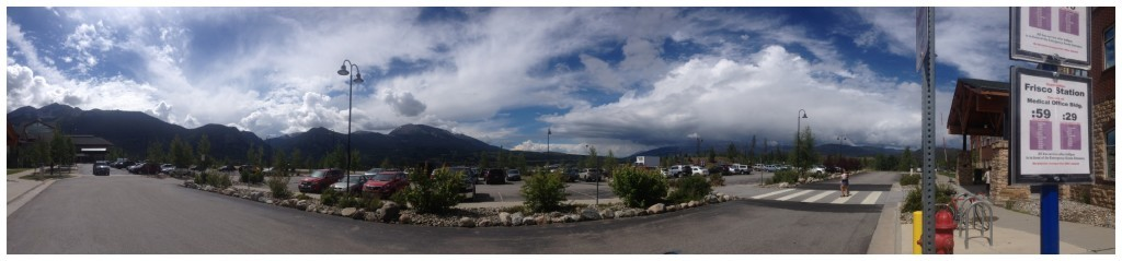 Panorama view from the medical clinic