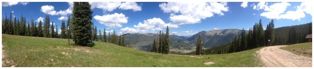 Panorama view from the top of Copper Mountain