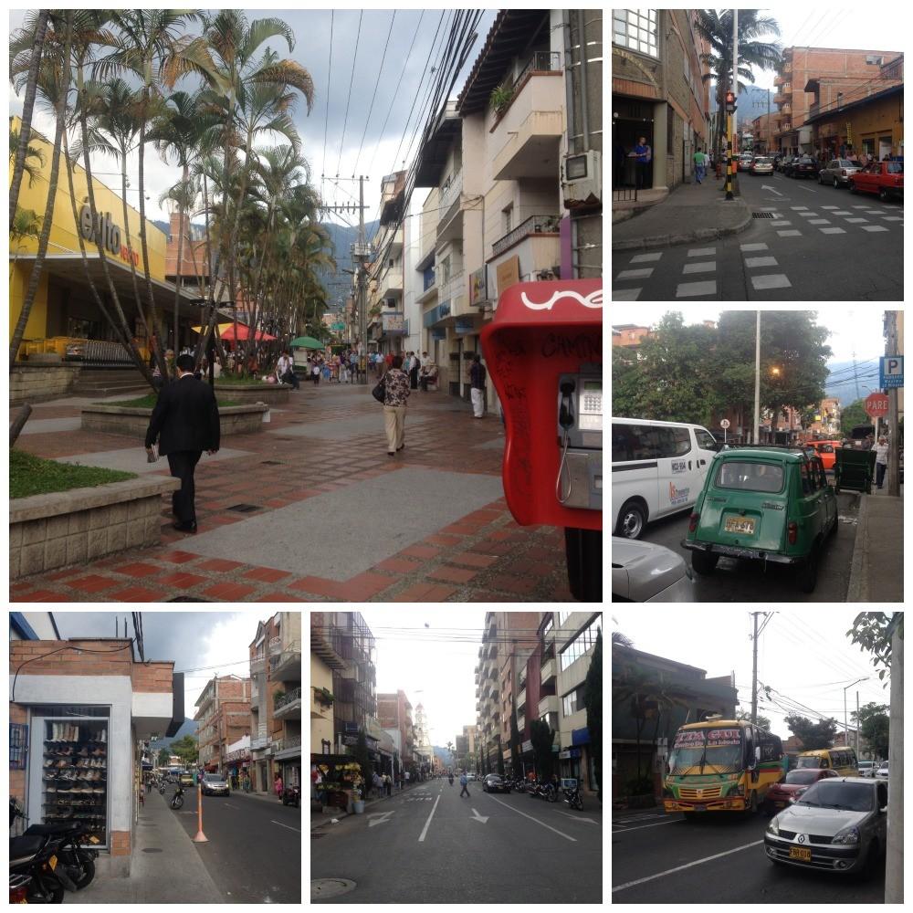 Street images from Envigado in Medellin