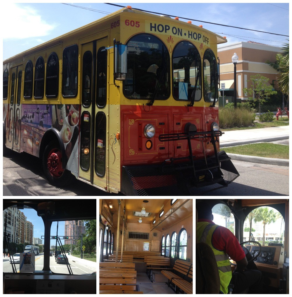 The hop on hop off trolly