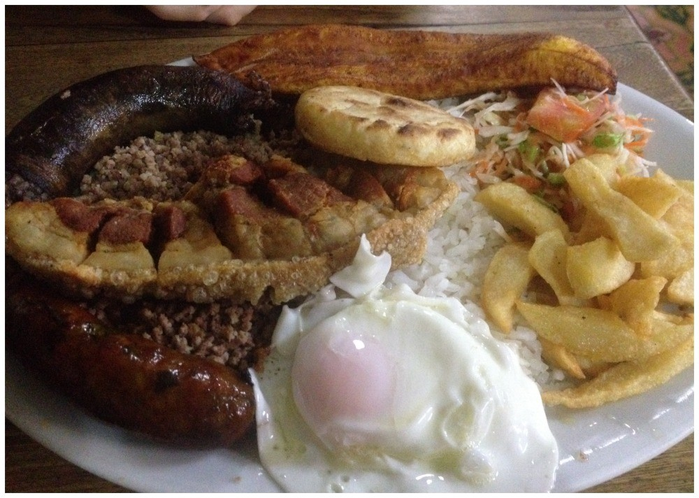 The original Colombian meal