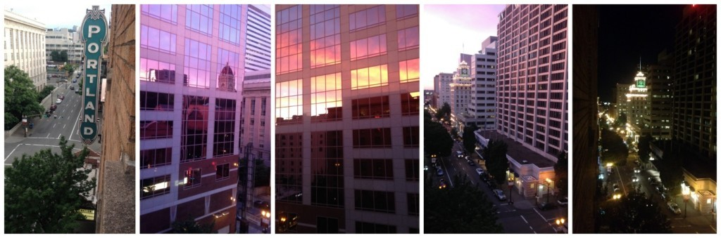 The view from our Heathman hotel window