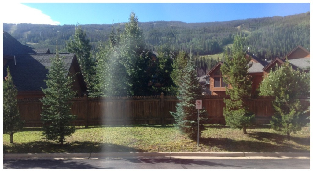 The view from our window towards the mountains in Keystone