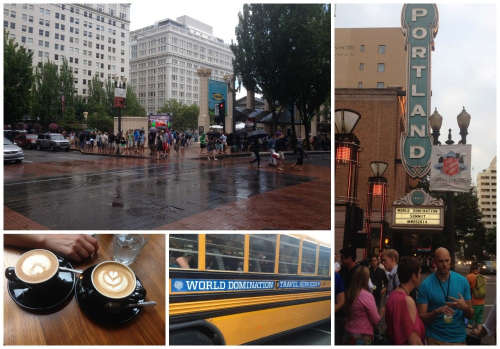 The world cup was on in the square in the pouring rain