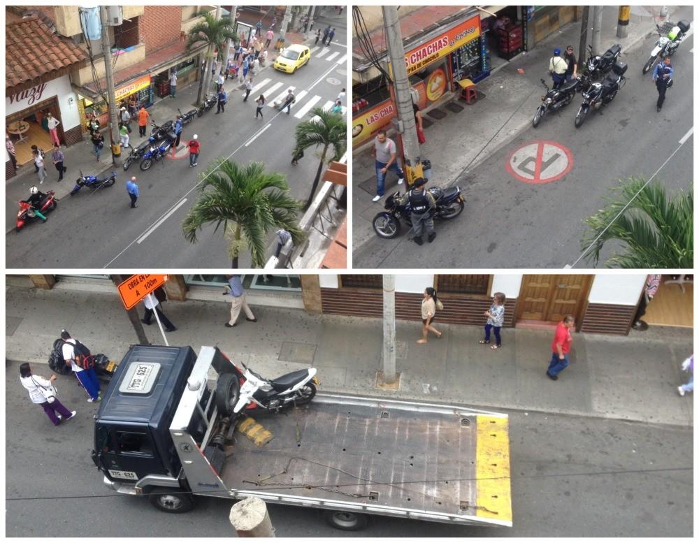 Traffic police control