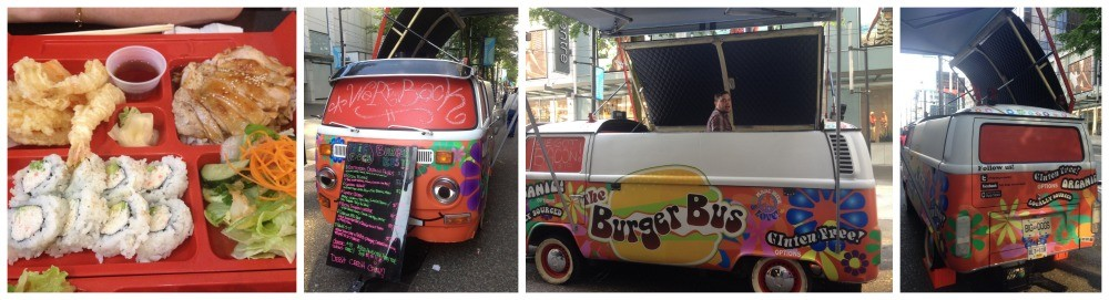 We had sushi for lunch, but a burger from this bus would have been good