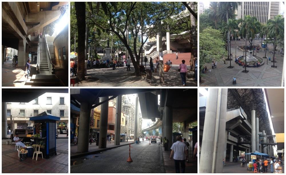 Arriving at Parque Berrio Metro station