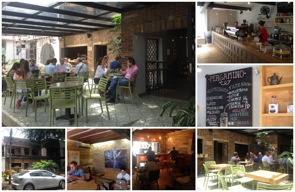 Cafe Pergamino in Parque Lleras Medellin