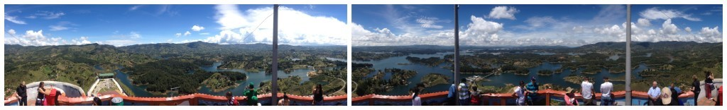 El Peñol panorama 360 degree view