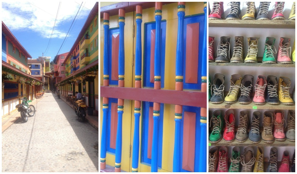 Even the shoe selection is as colourful as the town itself