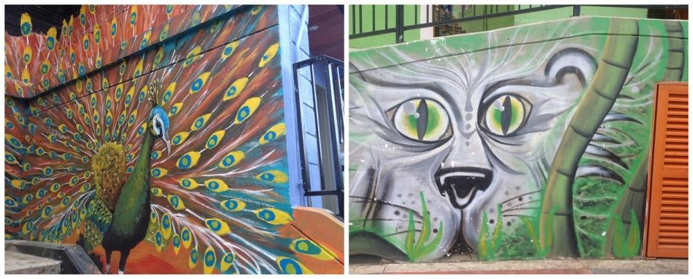 Fabulose wall art at the escalators in Medellin