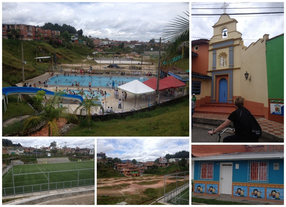 Guatape has some great facilities for a pueblo, a couple of pools, BMX track, football pitch, various churchs and schools