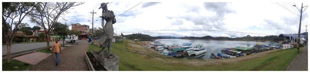 Lake front panorama in Guatape