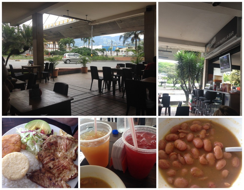Late lunch before walking back to our place in Envigado