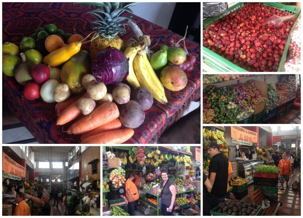Local market produce in Medellin