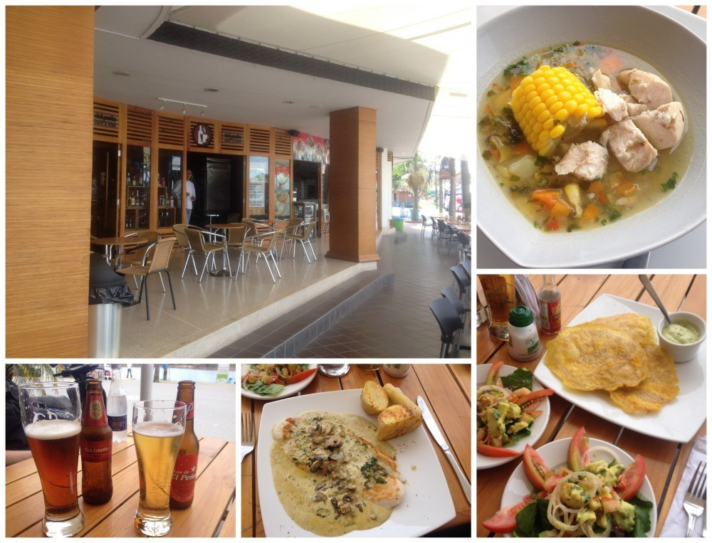 Lunch in Guatape at a more modern place along the waterfront