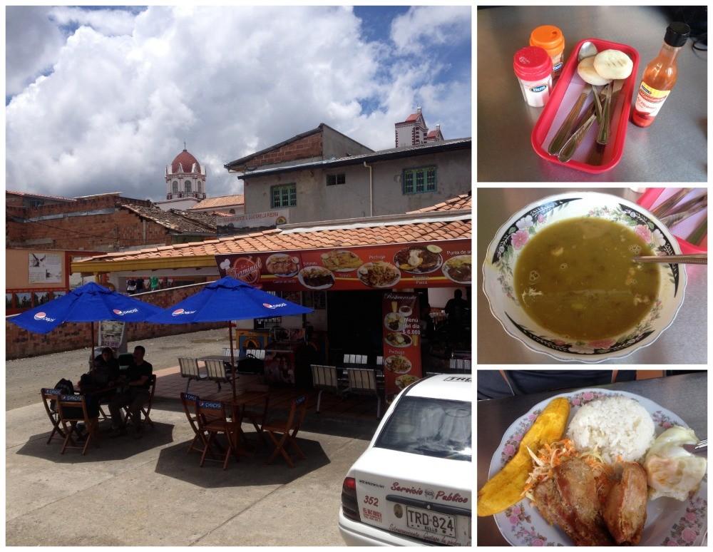 Restaurant El Terminal at the bus stop in Guatape