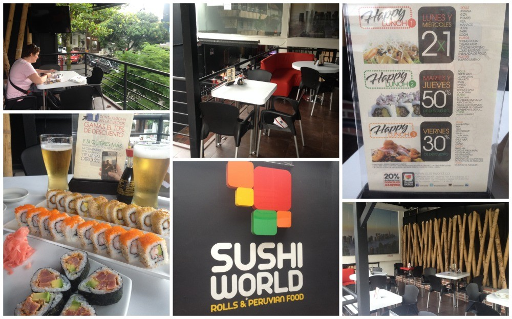 Sushi World in Parque Lleras